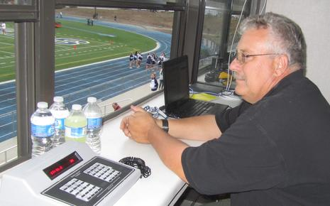 Bill working the time clock